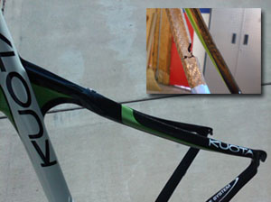 Seat stay repaired  with paint retouching.