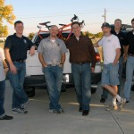 The Texas builders hang out after a successful show.